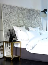 Maps as Decor - Headboard - www.AFriendAfar.com