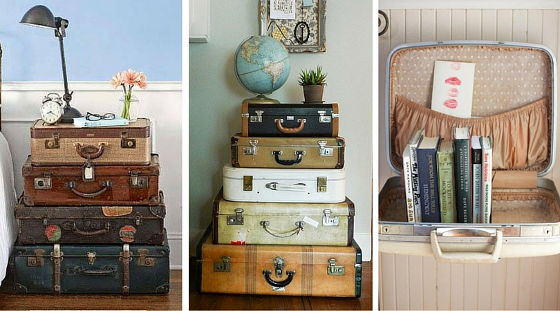 Wanderlust Style: Vintage Suitcases As Decor