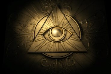 All seeing eye ancient occult symbols