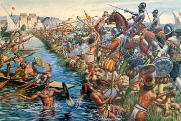 Spanish Conquest Of Aztec City Of Tenochtitlan