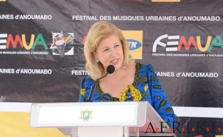 Dominique Ouattara au FEMUA, le mardi 23 avril 2019 à Abidjan. Photo: AfrikiPresse