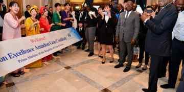 arrivée du premier ministre ivoirien Amadou Gon Coulibaly pour la Ticad à Yokohama au Japon  le 26 août 2019. Photo: Primature