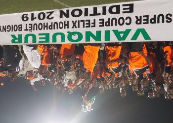 SOA, vainqueur de la coupe Houphouet-Boigny. Photo: Adou Mel
