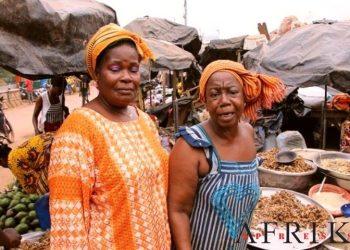 Des femmes au grand marché de Man à l'Ouest de la Côte d'Ivoire. Photo: Philippe K./AfrikiPresse