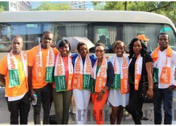 le bureau de l'Association des étudiants ivoiriens de chine