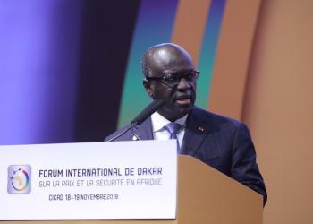 Marcel Amon-Tanoh, lors du forum sur la paix et sécurité à Dakar en novembre 2019
