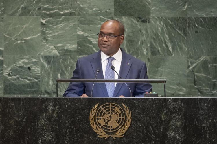 photo un.org: Alpha Barry ministre burkinabè des affaires étrangères et de la coopération internationale