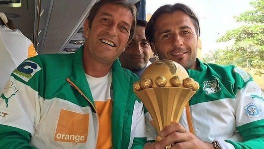 Hervé Renard et Patrick Bommel. Photo: DR