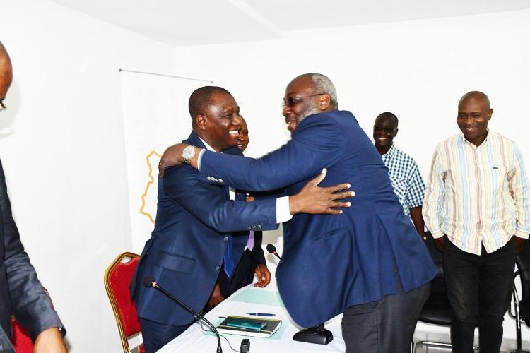 Photo Sidy et Sory (Ph Adou Mel- archives)