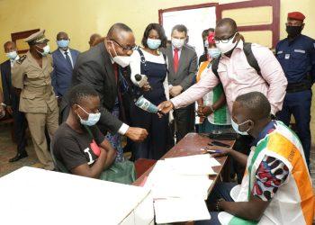lancement de l'opération de la révision de la liste électorale en Côte le 10 juin 2020. Photo: DR