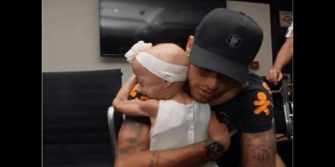 Football: Neymar achieves the long-standing dream of a sick girl (photos)