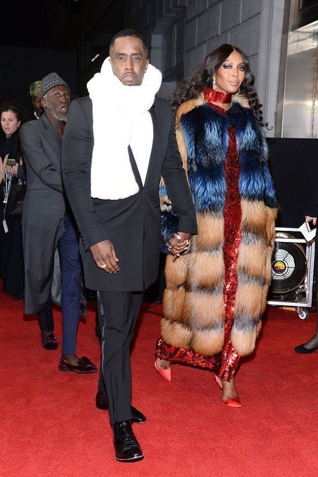Naomi Campbell reveals her affection for P. Diddy