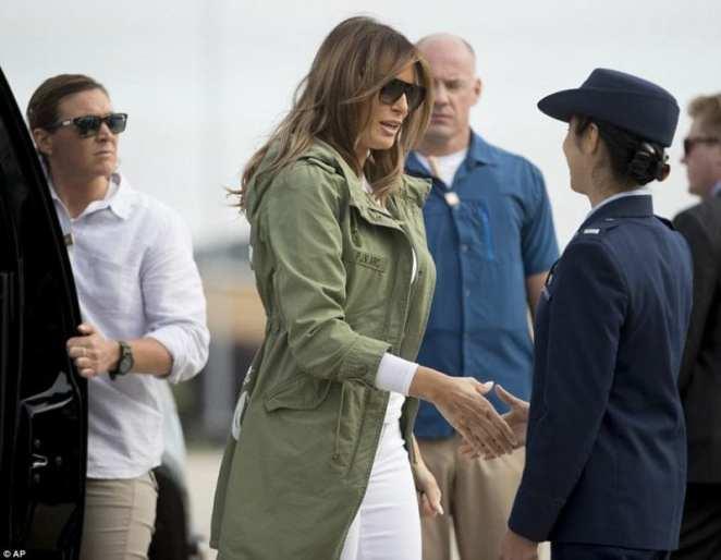"""""""I do not care"""": Melania Trump's controversial jacket (photos)"""