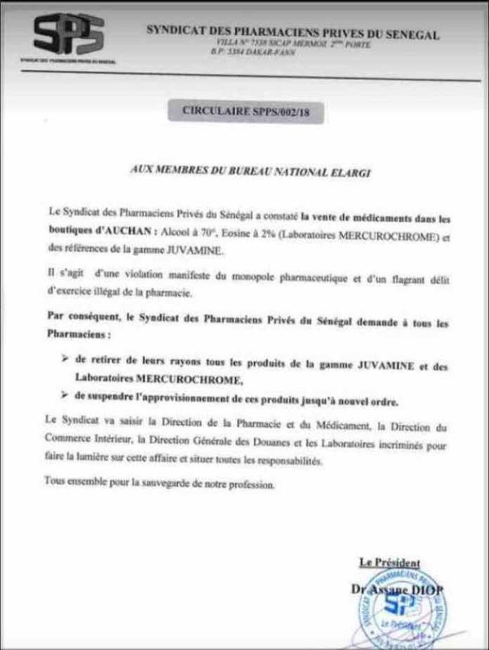 Sénégal: Les pharmaciens tirent sur Auchan pour vente de médicaments