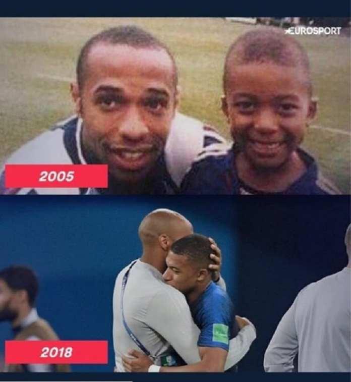 France: Cette photo de Thierry Henry avec Kylian Mbappé secoue la toile