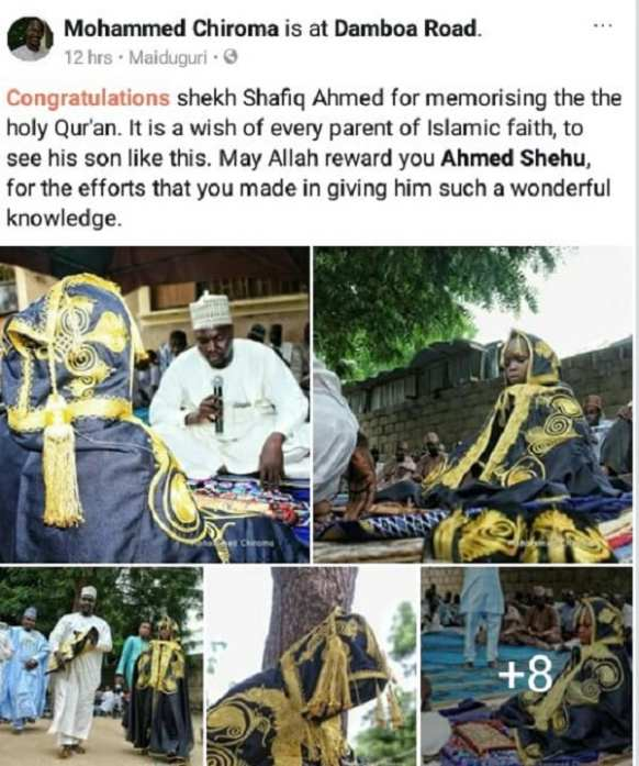 Photos: un jeune garçon honoré pour avoir mémorisé l'ensemble du Saint Coran