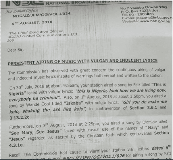 "Nigeria: La chanson ""This is Nigeria"" censuré par la National Broadcasting Commission"