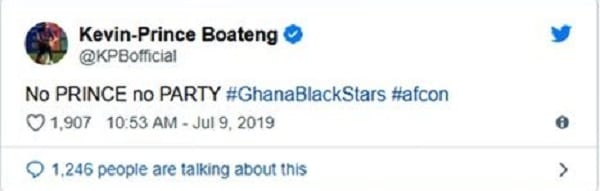CAN 2019: Kevin Prince Boateng Mocks Ghana's Black Stars After Their Elimination