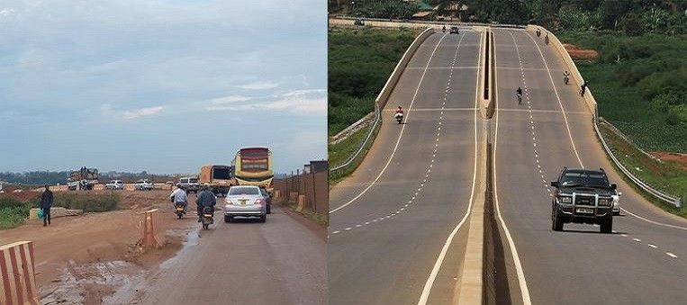 Photo of Find the differences: a road in Uganda laid out by China or by Europe