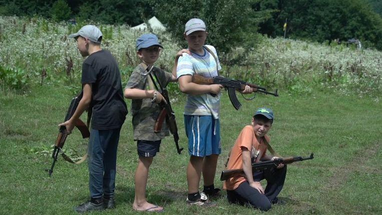 Photo of In this summer camp, Ukrainian children learn how to kill Russians