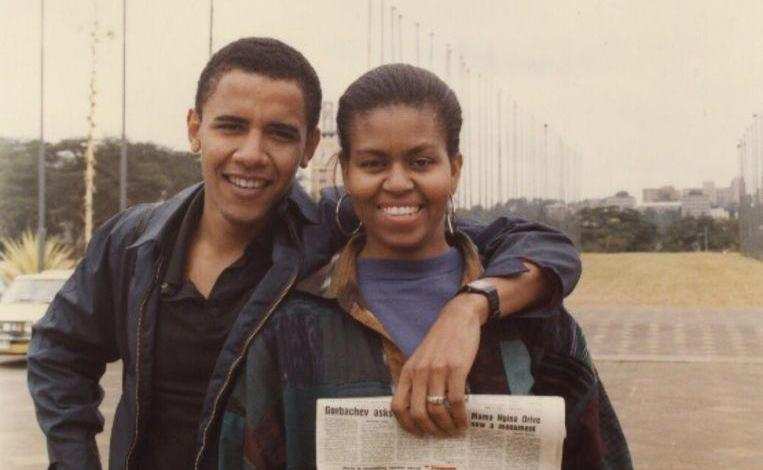 Photo of Barack Obama shares beautiful old photo on Michelle's 55th birthday