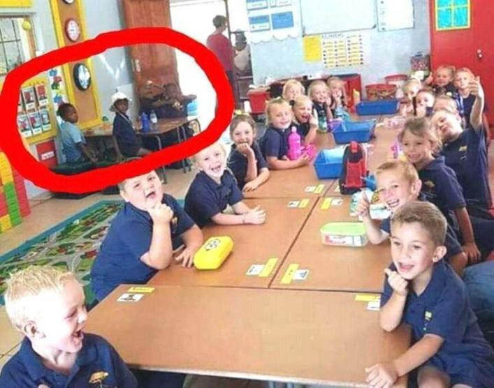 Teacher suspended for 'segregation' of black pupils in South African school