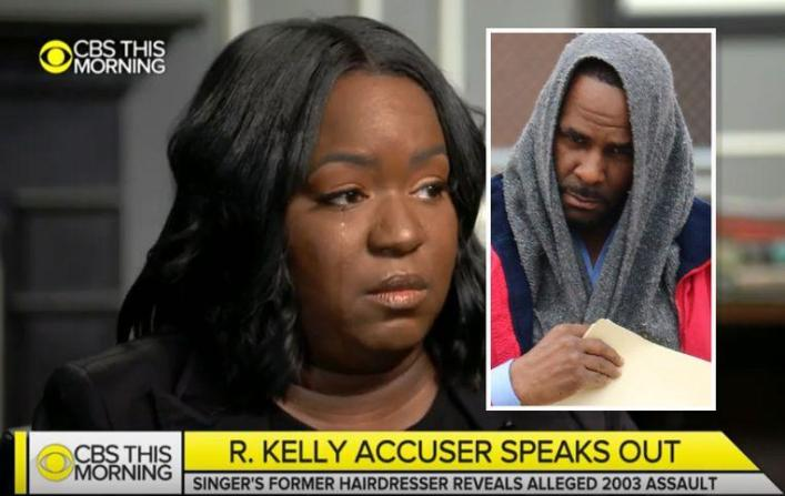 "Alleged R. Kelly's victim says: ""His DNA ended up on my shirt"""