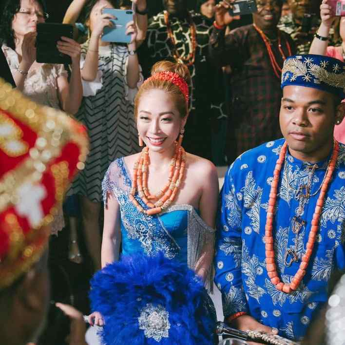 Charming photos of a Nigerian and his Taiwanese lady