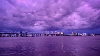 Photo of Hurricane Dorian's passage through Florida: why Sky became purple