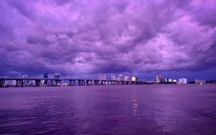 Photo of Hurricane Dorian's passage through Florida: why Sky became purple