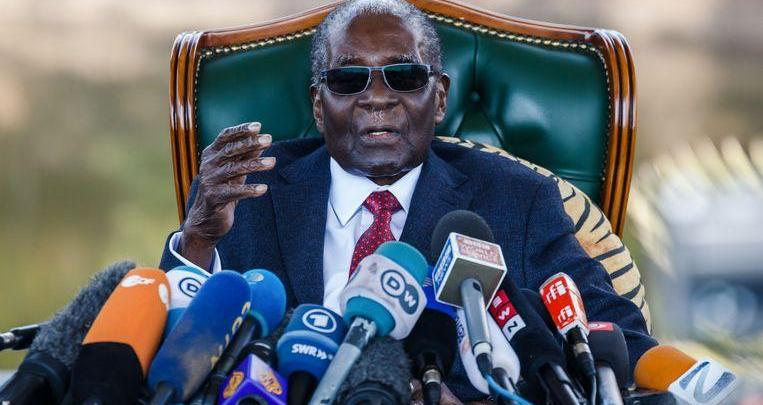 Photo of Zimbabwean former president Robert Mugabe (95) died