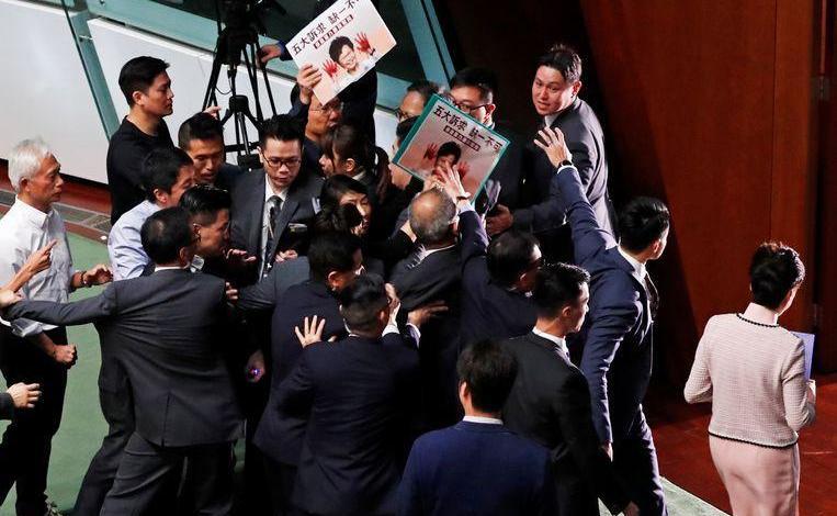 Photo of Chaos in Hong Kong Parliament