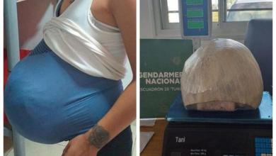 Photo of Woman pretends pregnancy and smuggles 4.5 kg of cannabis