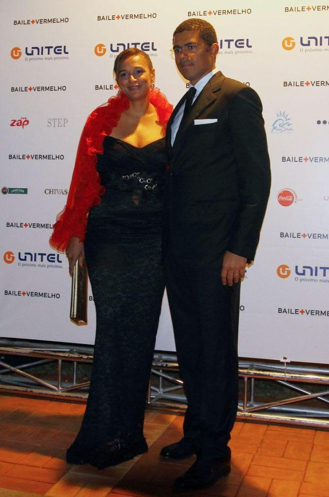 Isabel dos Santos and her husband Sindika Dokolo in 2011. Dos Santos has an Angolan father and Russian mother, Dokolo is the son of a Congolese billionaire and a Danish.
