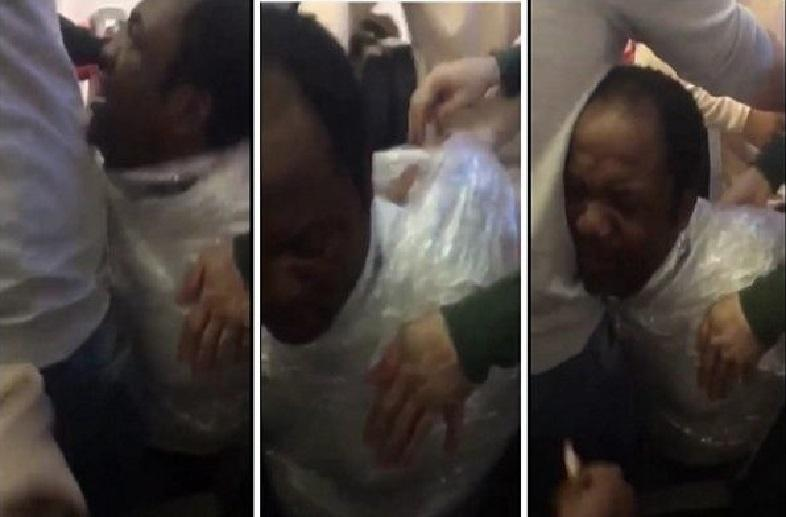 Cameroonian wrapped like a parcel and expel from Turkey [video]