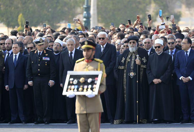 Egyptian ex-president Mubarak buried with military honor
