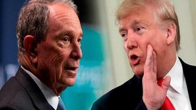 "Photo of Bloomberg trolls Trump with giant billboards: ""Trump eats burnt steak"""