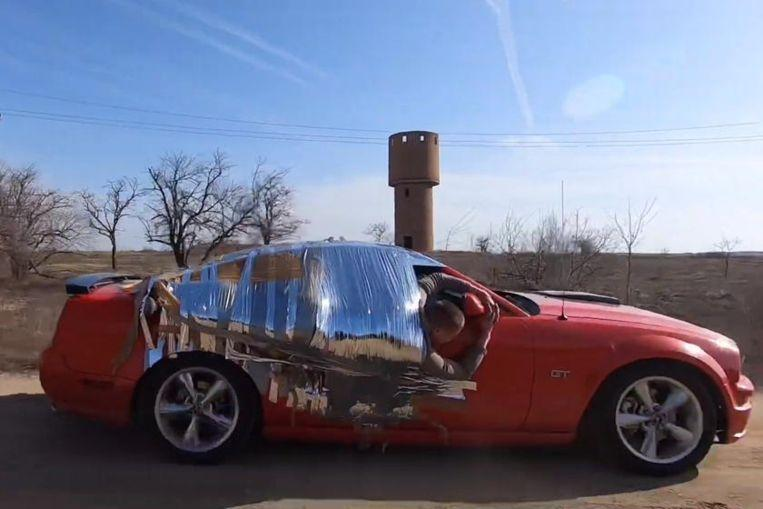 Striking images: What duct tape is not good for (video)