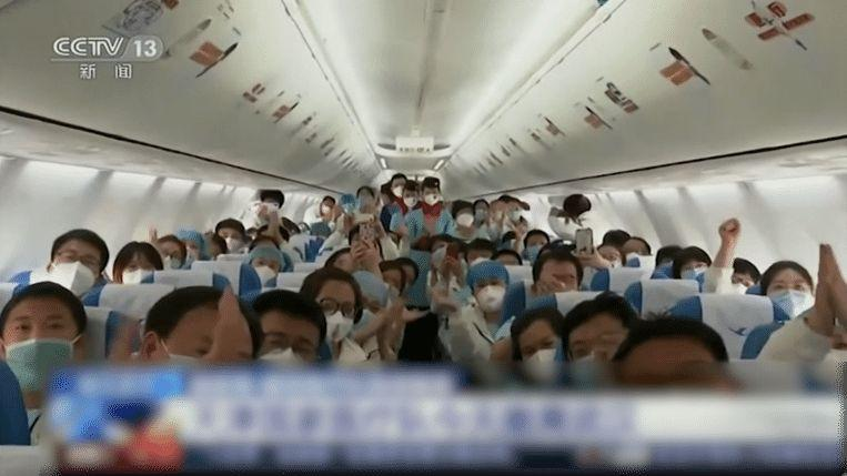 Photo of Tears as Medical teams leave Wuhan, the epicenter of Corona