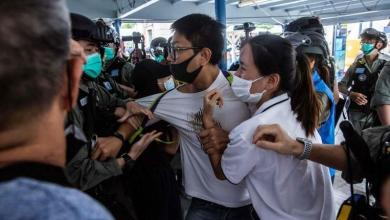 Photo of Hundreds of protesters take to the streets in Hong Kong again