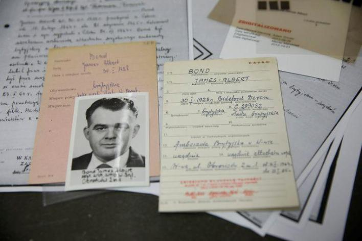 The documents of James Albert Bond, who is said to have been a British agent.