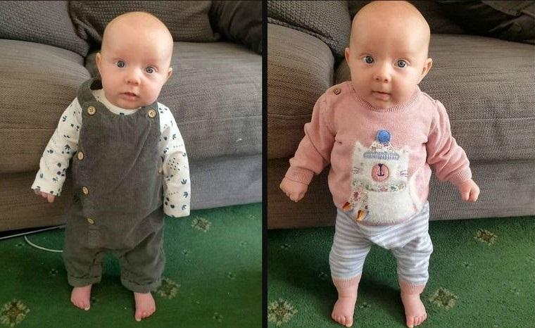 Photo of Strongest baby in the world? Lula can stand upright after 8-weeks