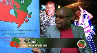Rencontre avec l'artiste ETO DUNIA de Amani Kwanza Band