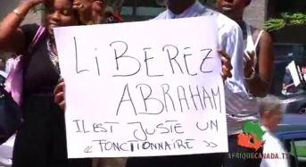 Marche pour la liberation de Bahati bayavuge à Montréal