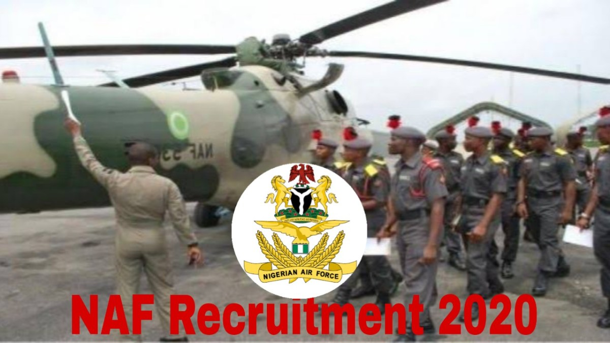 NAF Recruitment 2020: How To Apply For Nigerian Airforce Recruitment