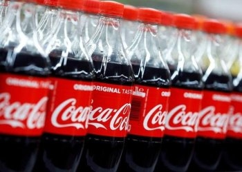 FILE PHOTO: Bottles of Coca-Cola are seen at a Carrefour Hypermarket store in Montreuil, near Paris, France, February 5, 2018. REUTERS/REGIS DUVIGNAU/FILE PHOTO