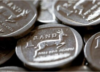 South African Rand coins are seen in this photo illustration. REUTERS/Mike Hutchings/File Photo