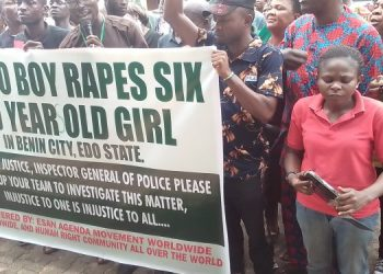 Protest In Edo After 6-Year-Old Girl Was Defiled By Suspected Ritualist
