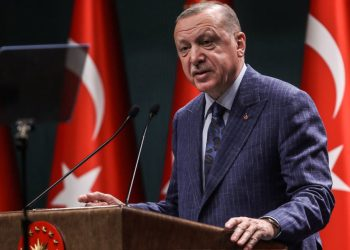 [FILE] Turkish President Recep Tayyip Erdogan speaks during a press conference after the Cabinet Meeting at the Presidential Complex in Ankara.(Photo by Adem ALTAN / AFP)