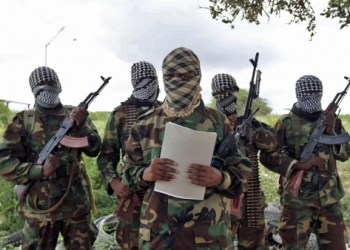 A military spokesman for al-Shabab issues a statement south of Mogadishu. Feisal Omar/Reuters